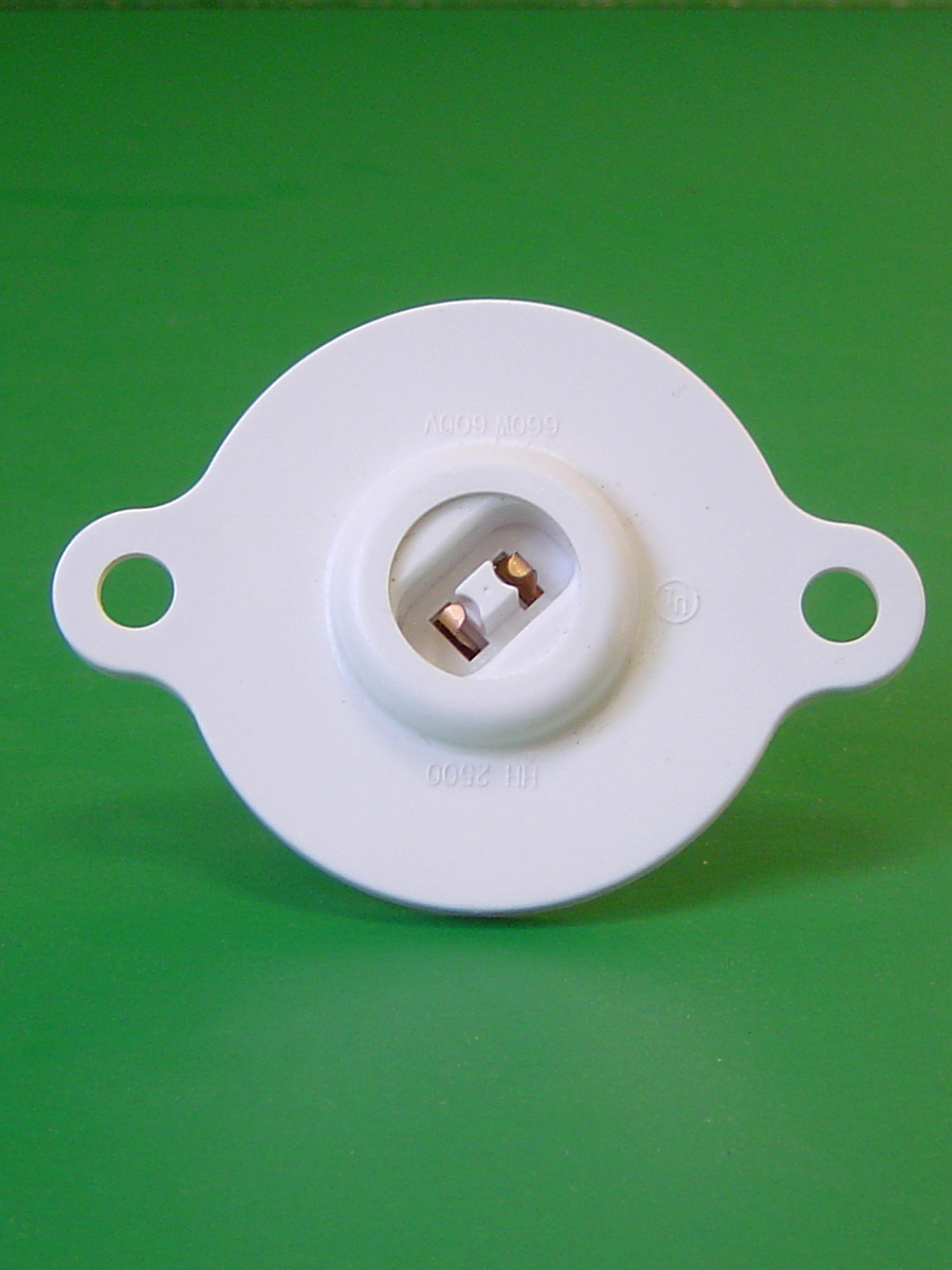Recessed Double Contact Power Grove Turret Socket
