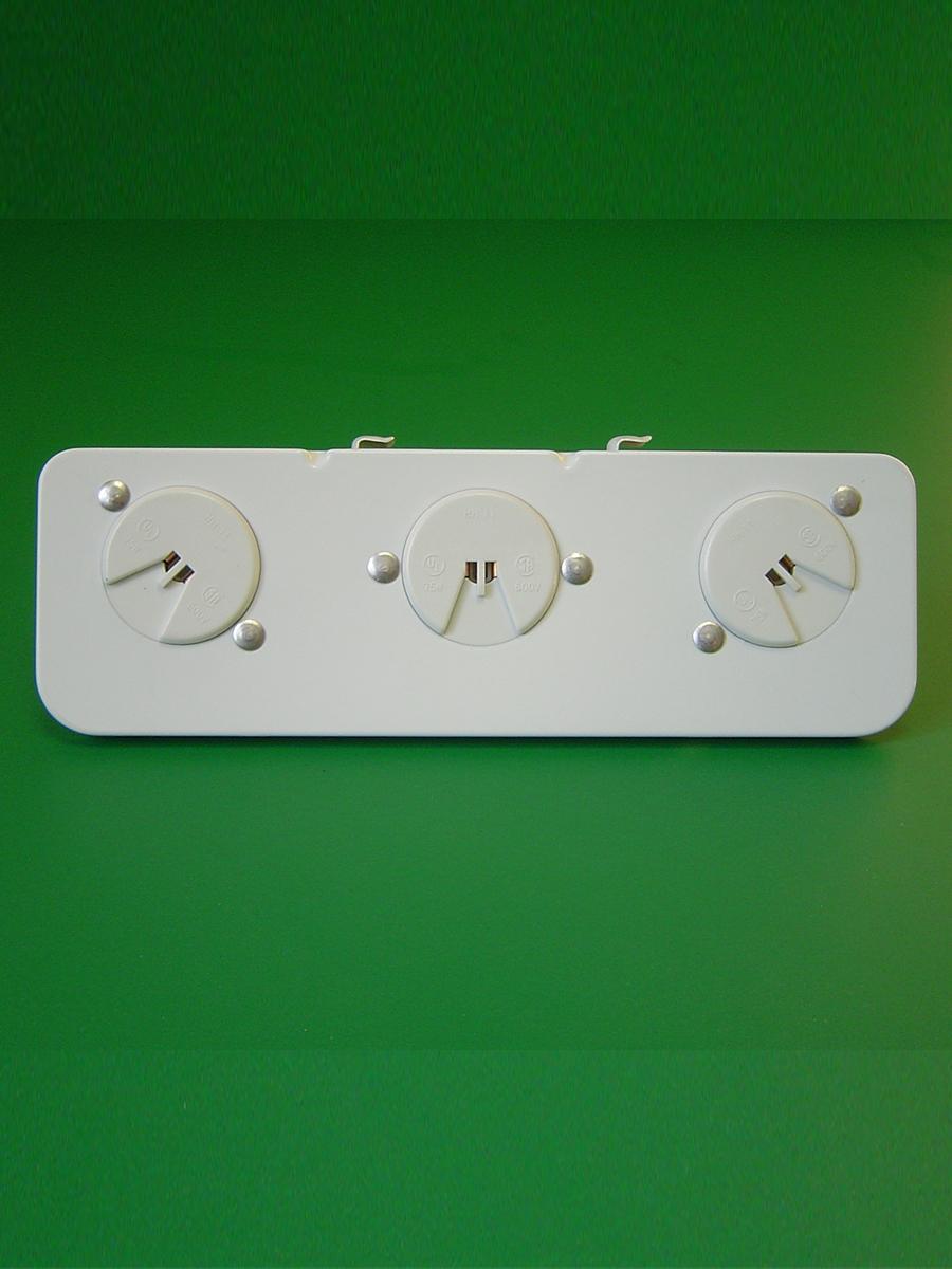 3 Light Shunted T-5 Mini Bi Pin Stationary End