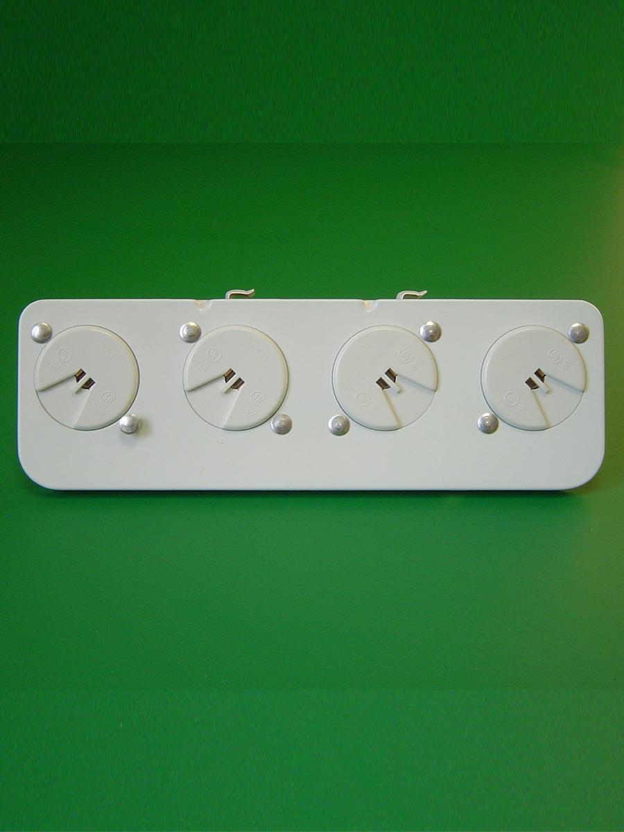 4 Light Shunted T-5 Mini Bi Pin Stationary End