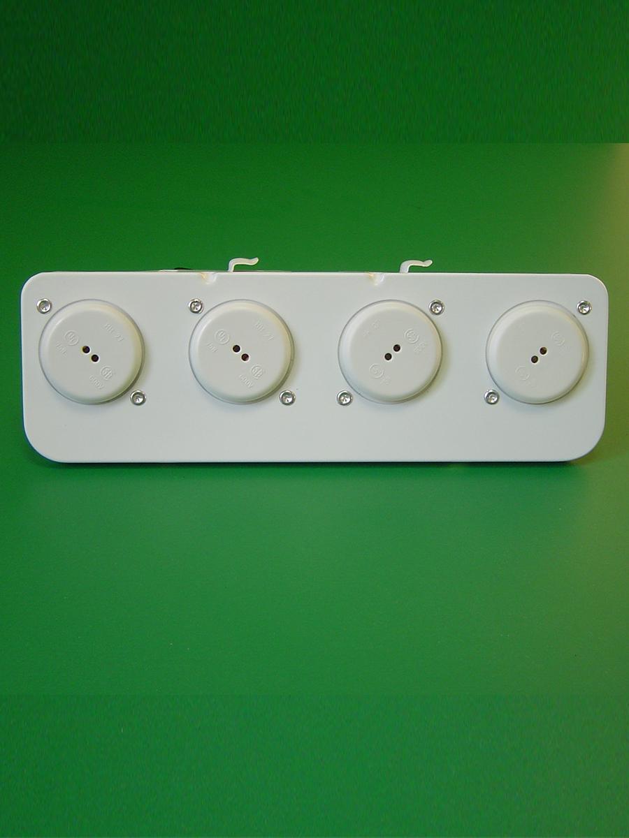 4 Light Shunted T-5 Mini Bi Pin Spring End